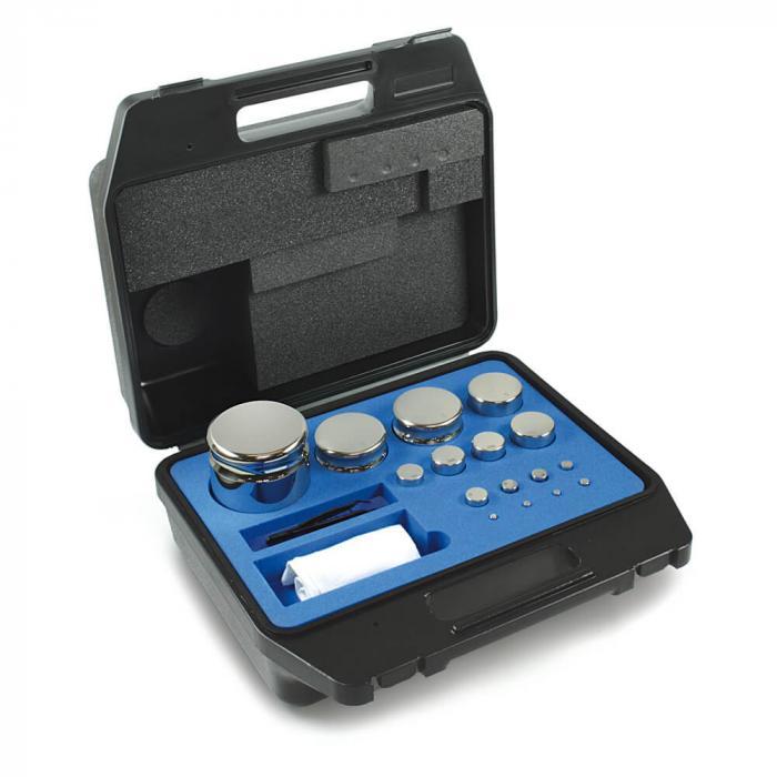 Gewichtssätze F1 - ECO-Form - Edelstahl poliert - 1 mg bis 5 kg - Kunststoff-Koffer