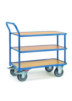 Table trolley - with 3 floors - 400 kg