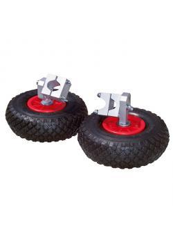 Stödhjul för skottkärror - massiva gummidäck - PU 2 delar - pris per PU