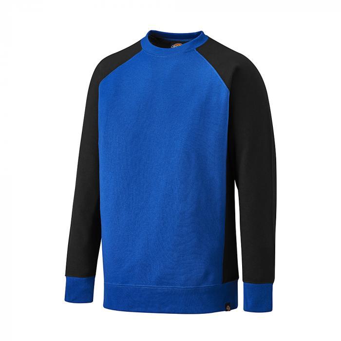 Tvåfärgad tröja - Dickies - storlekar S till 4XL - kungblå / svart