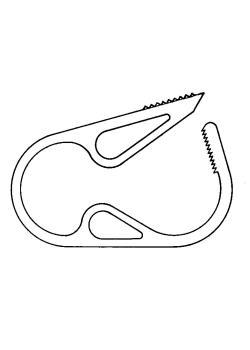 Schlauchklemme Quetsch-Fix - POM - weiß - für Ø 6 bis 15 mm