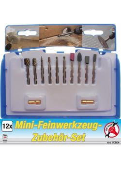 Mini-Feinwerkzeug Zubehör Satz - zum Trennen, Gravieren, etc. - 12-tlg.