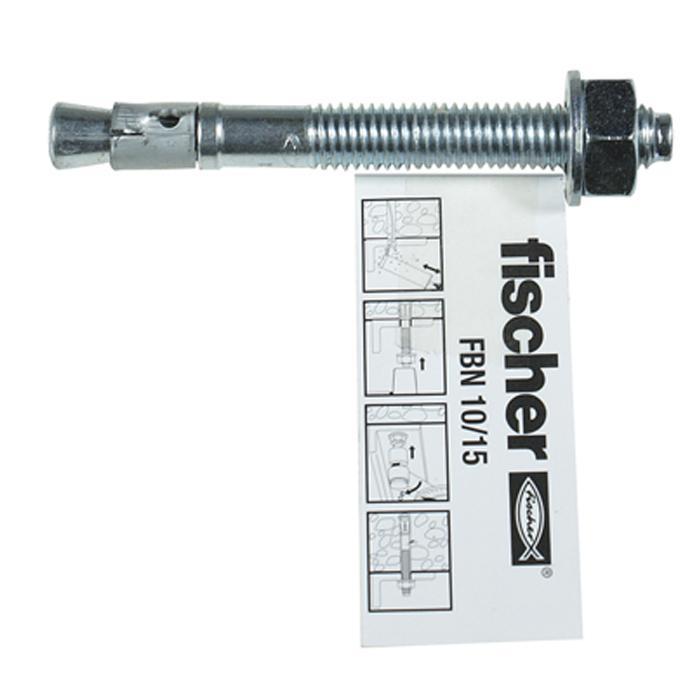 Bolt Fischer FBN II - średnica wiercenia 12/10 mm - materiał: stal ocynkowana,