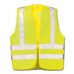 Varselväst - DIN EN 471 Klass 2 - gul / orange - axelreflex - Strl . L-XL
