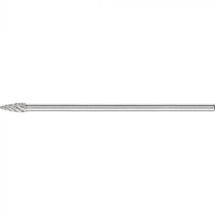 PFERD HM-Frässtift - Spitzbogenform SPG - STEEL - Frässtift-Ø 8 bis 12 mm - Schaft-Ø 6 mm - SL 150 mm