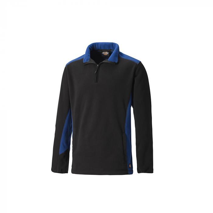 Fleecepullover zweifarbig - Dickies - Größe S bis XXXL - königsblau/schwarz