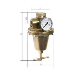 """Régulateur de pression - pour pressions élevées  - max 40 bar - laiton - G 1/4""""-2"""""""
