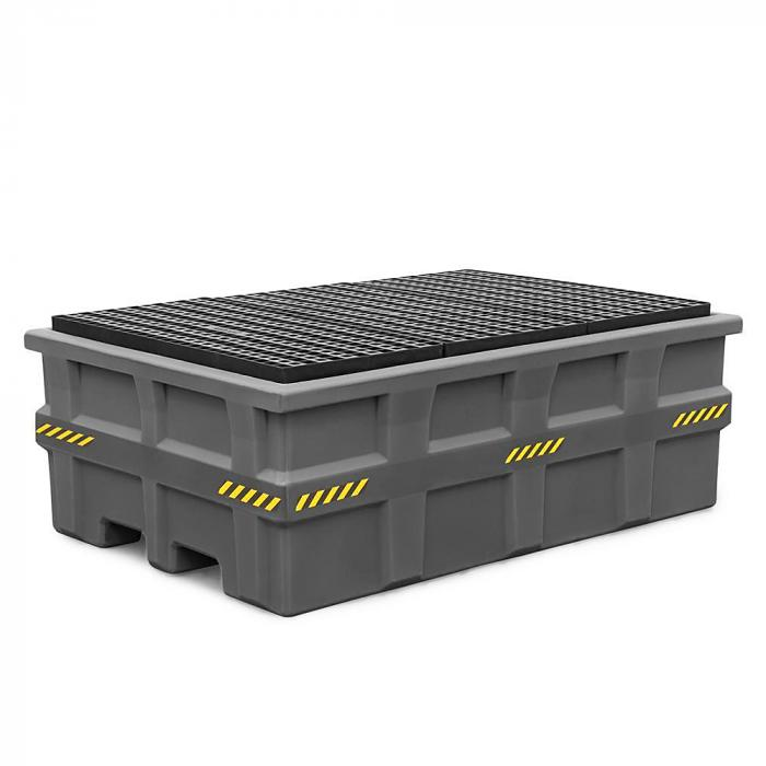 Auffangwanne pro-line - Polyethylen (PE) - für IBC - mit PE-Gitterrost