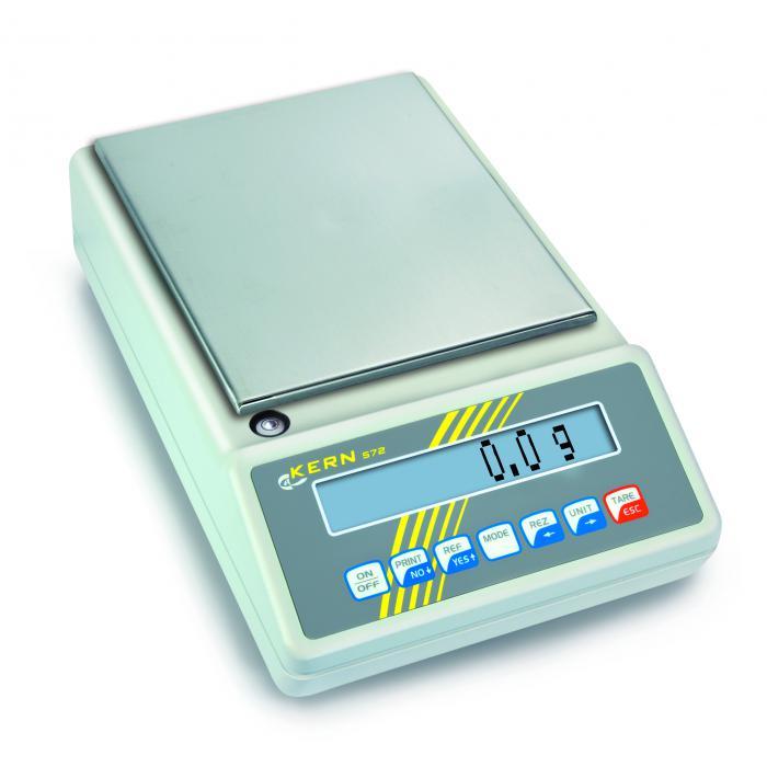 Waage - max. Wägebereich 650 bzw. 6500 g - mit Eichzulassung