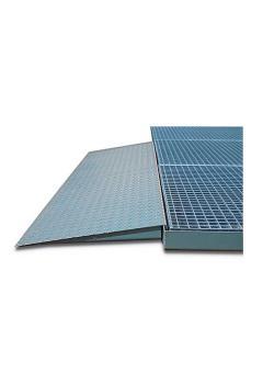 Rampa di accesso - acciaio zincato - per elementi a pavimento di linea classica - altezza di costruzione 78 mm