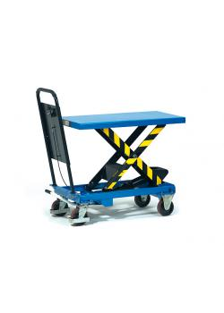 Lifting platform - up to 1000 kg - tubular push handle bolted fixed