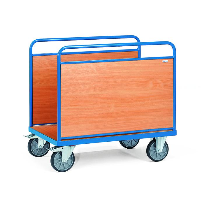 Ballcarts - avec 2 panneaux latéraux en bois - 600 kg