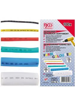 Shrink tubing, assortment - color - 100 pcs.
