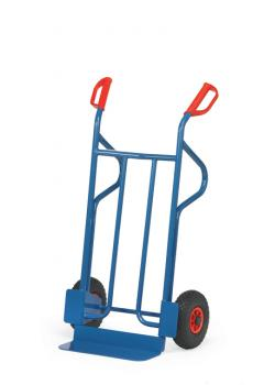 Tubular steel trolley - 350 kg - height 1200 mm - air / solid rubber tires