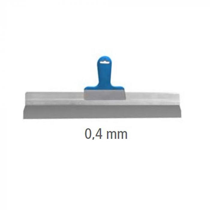 Flächenspachtel Aluminium mit ergonomischem Softgriff - rostfrei - Premium - 170 bis 570 x 0,4 mm