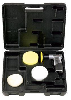 Poliermaschine in Koffer mit 3 Tellern