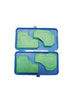 Fugenglättersatz - 4-tlg. - in Kunststoffbox
