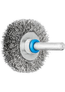 PFERD Rundbürste RBU mit Schaft - INOX - ungezopft - Außen-ø 40 bis 80 mm - Besatzmaterial-ø 0,15 bis 0,30 mm - VE 10 Stück - Preis per VE