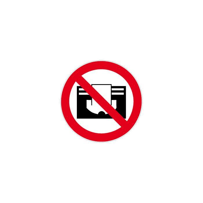 """Verbotszeichen - """"Nicht abdecken"""" - Durchmesser 5-40 cm"""