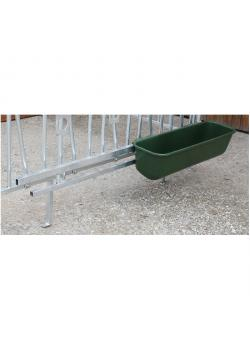 Trough holder for two long-feeding troughs
