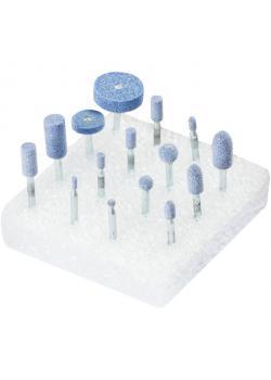 Schleifstift-Set - PFERD - Schaft-Ø 3 mm - Härte J - 15 verschiedene Schleifstifte