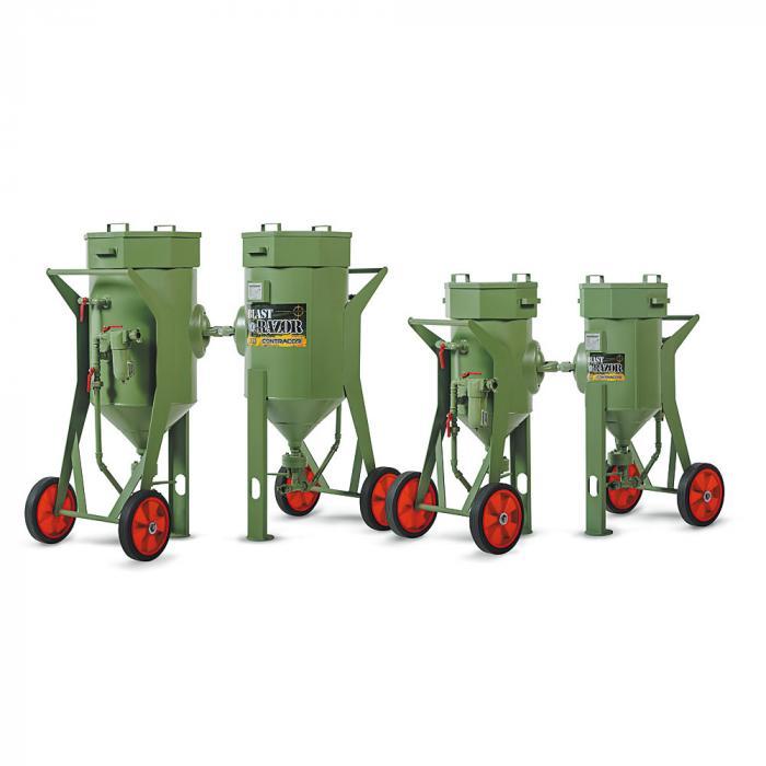 Sandstrahlgerät ohne Fernsteuerung BlastRazor Z-25 und Z-50 - Volumen 25 bis 50 l - Arbeitsdruck 10 bar