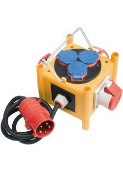 CEE-Stromverteiler MINI - IP44 - 1 m Kabel - 3xCEE400V + 3x230V