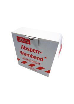 ruban Attention - 80 mm x 500 m - rouge blanc / - boîte distributrice