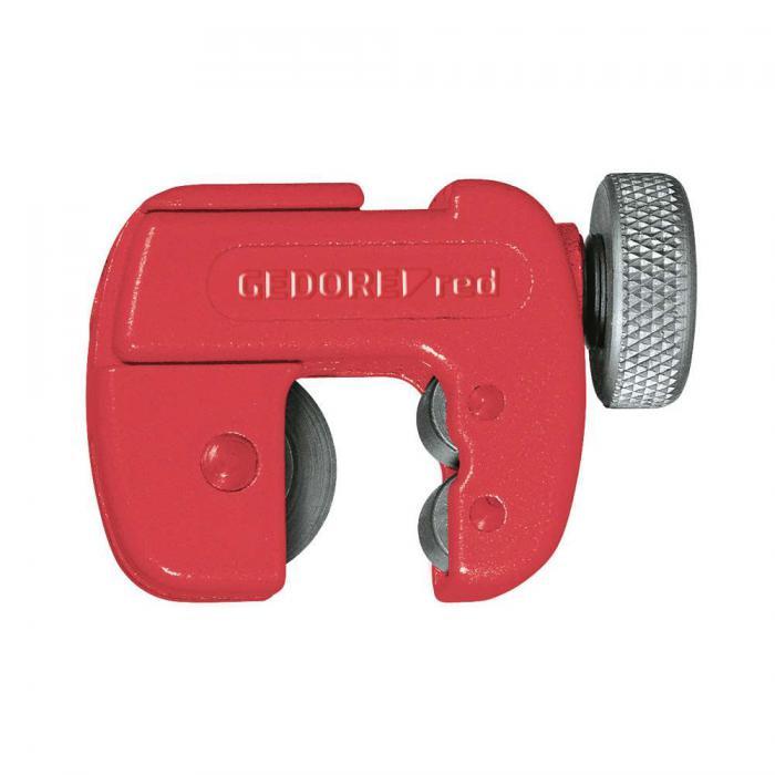 Coupeur De Mini Tube Gedore Rouge Pour Tubes De Cuivre Diamètre De 3 à 22 Mm
