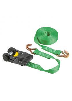Zurrgurt mit Karbonratsche - 750 bis 1500 daN - Breite 25 mm - Länge 4 bis 6 m - grün