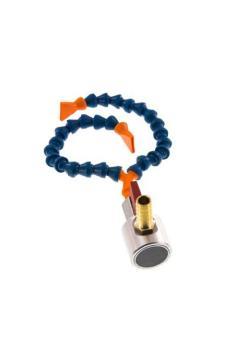 """Gelenkschlauchsystem Cool-Line Set - 2 Gelenkschlauchstücke mit 13 Modulen - Gewindestück R1/4"""" - 2 Flachdüsen 24 mm - Y-Verteiler - 1 Magnetfuß mit Kugelhahn"""