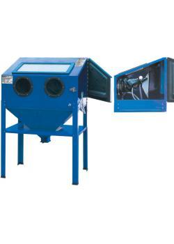 Druckluft-Sandstrahlkabine - Innenraum 840 x 550 x 550 mm - Arbeitsdruck 4,1 bis 8,6 bar