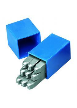 Sifferstansar - 0-9 - teckenhöjd 6 mm - längd 70 mm - 9 st