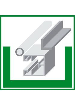 "Miljöskylt ""metallskrot"" - sidolängd 5-40 cm"