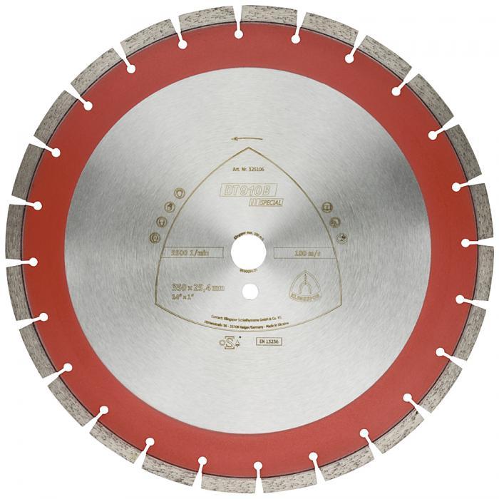 Diamanttrennscheibe DT 910 B - Durchmesser 300 bis 500 mm - Bohrung 25,4 mm - lasergeschweißt - eng verzahnt