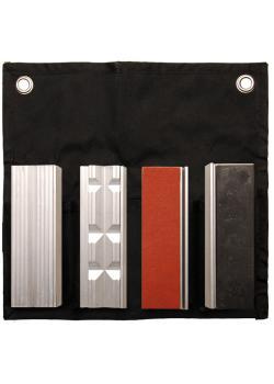 Magnet-Schutzbacken - für Schraubstock - aus Aluminium - Größe 100 x 25 mm - 8-tlg.