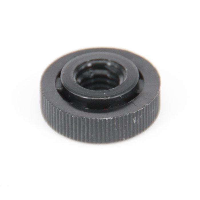 Rändelmuttern - schwarz - Typ 2 - M 4, M 5 und M 6 - (Ø x Innen-Ø x Höhe) 16 x 10 x 6 mm