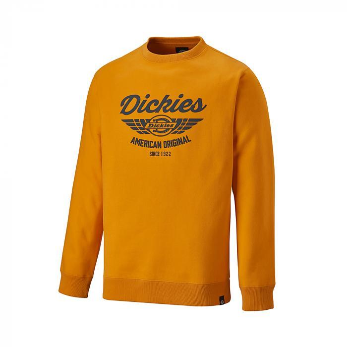 Everett sweatshirt - Dickies - Storlekar S till 4XL - orange / marinblå