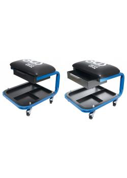 Workshop seat - with drawer and castors - max. Load capacity 90 kg