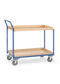 Table trolley - High standing handle - - 2 boxes of wood 300 kg