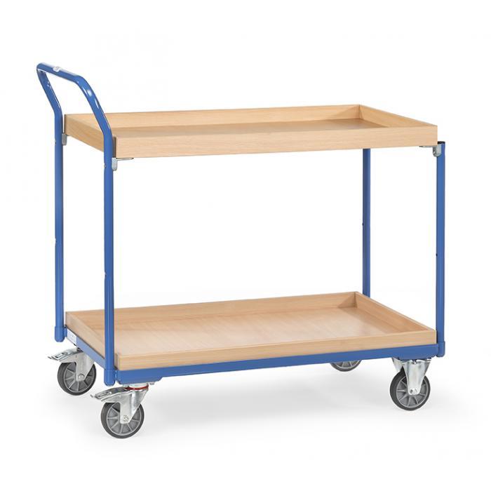 Tabella trolley - Alta manico in piedi - - 2 scatole di legno 300 kg