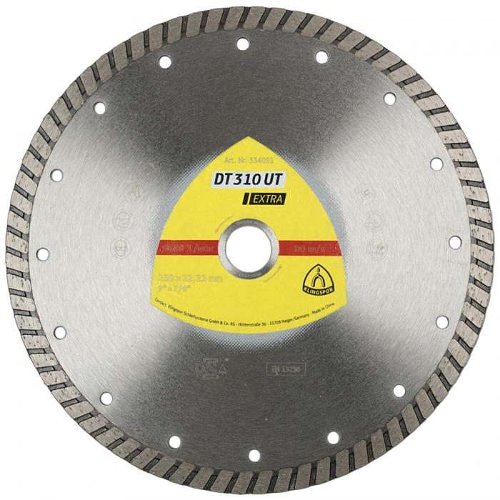 Diamanttrennscheibe DT 310 UT - Durchmesser 100 bis 230 mm - Bohrung 22,23 mm - gesintert