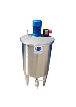Agitator tank type CILC100BRWP - with propeller stirrer SRT4-1000 - stainless steel - 109 l - tank 477 mm - single-walled