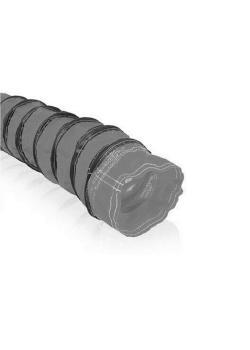 OHL-Flex NHT-1  - Lüfterschlauch - grau oder schwarz -  7,6 m - Preis per Rolle