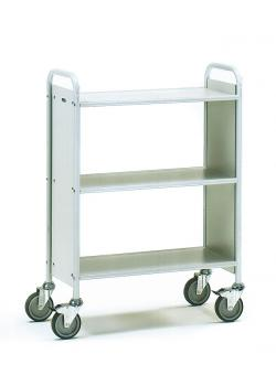 Office Cart - light gray - carrying capacity 150 kg - EN 1757-3