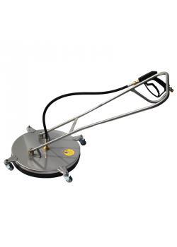 Floor Cleaner - rostfritt stål - Ø 520 mm - M22x1,5 AG - 250 bar -. Inkl Gun