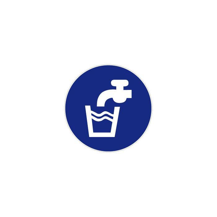 """Gebotszeichen """"Trinkwasser"""" - Durchmesser 5-40 cm"""