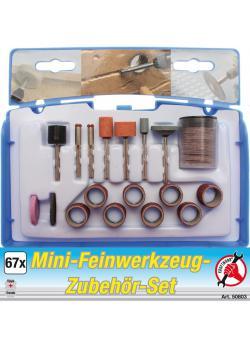 Mini-Feinwerkzeug Zubehör Satz - zum Gravieren, Schleifen, etc. - 67-tlg.