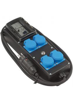 Personen-Schutzverteiler PRCD-S - 4 fach - Stecker 230 V/16 A - Steckdosen 4 x 230 V/16 A