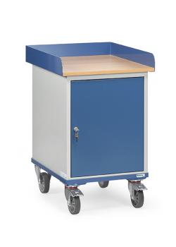 Roll cabinet with countertop - with rims and steel cabinet